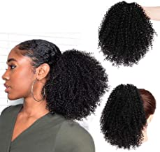 Vigorous Short Afro Curly Ponytail Hair Piece for African American Black Women Ponytail Extension Afro Drawstring Curly Ponytailfor Women
