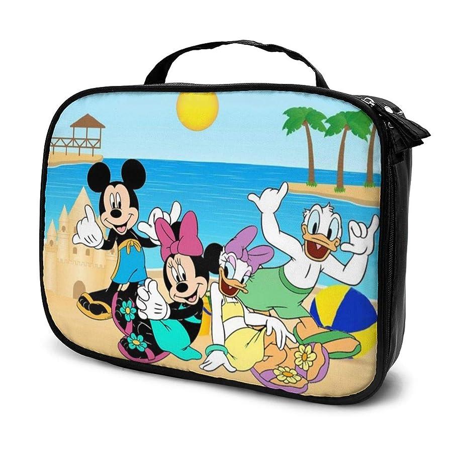 租界ドライマイルストーンDaituホリデーミッキーミニードナルド 化粧品袋の女性旅行バッグ収納大容量防水アクセサリー旅行