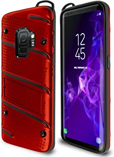 Samsung Galaxy S9 Case   Military Grade   15ft. Drop Tested   Protective Case   Kickstand   Shockproof   Wireless Charging   Dual Layer Heavy Duty   Compatible with Samsung Galaxy S9 - Red