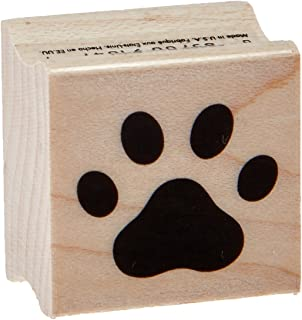 Hero Arts Red Rubber Wood Stamp, Paw Print