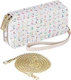 HAWEE Wristlet Clutch Wallet for Women Shoulder Purse Bag with Chain Strap