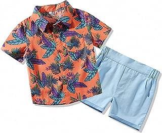 Hawaiian Outfit Baby Boy Summer Clothes Hawaii Button-Down Shirts and Shorts Clothing Set