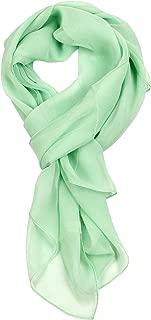 Long Chiffon Sheer Scarf For womens - Green - Medium