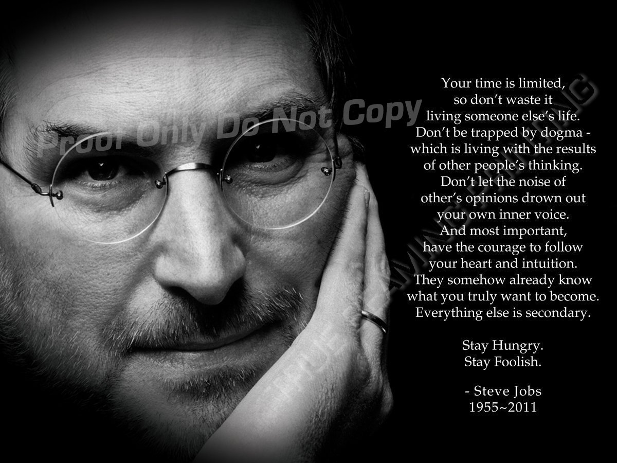 """True Beaming 24"""" x 36"""" Steve Jobs Posters, Your time is Limited' Premium Poster Print - Printing Quality Guaranteed - Have Been The No.1 Steve Jobs Poster Last 5 Years from Amazon"""