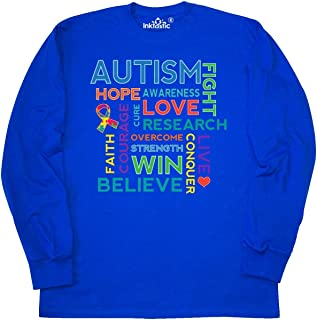 Autism Support Slogan Long Sleeve T-Shirt