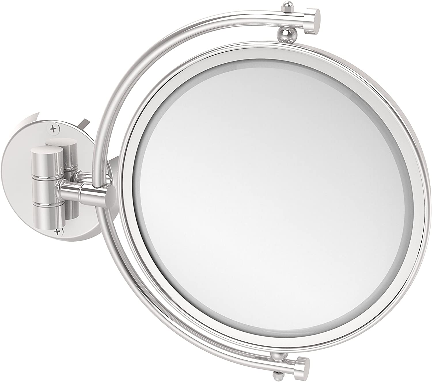 Allied Brass WM-4 5X-PC 8-Inch Mirror with 5X Magnification Extends 7-Inch, Polished Chrome