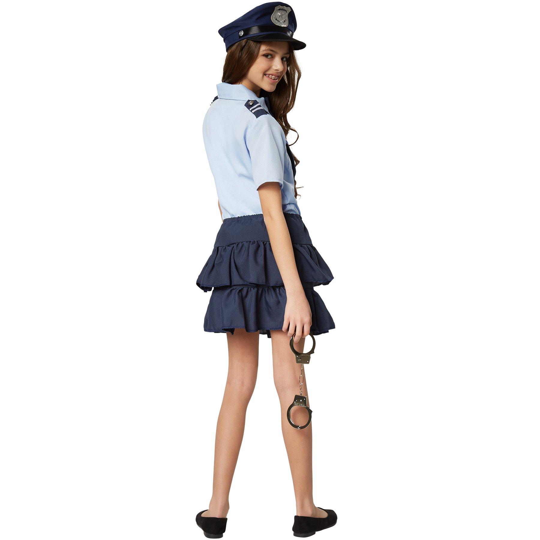dressforfun 900268 Disfraz de Policía para Chica, Camisa de Manga ...