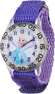 Disney Frozen Elsa Girl's Plastic Time Teacher Watch