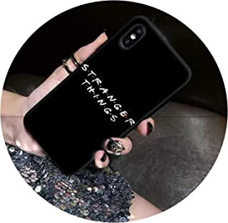 tthappy76 Black TPU Phone Case Cover for iPhone 8 7 6 6S Plus X Xs Max 5 5S Se Xr Cover,A Z,for iPhone 7