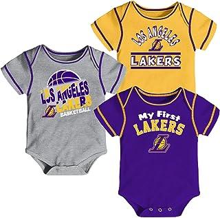 c97fac0f0 Outerstuff NBA Newborn Infants Rookie 3 Piece Creeper Bodysuit Set