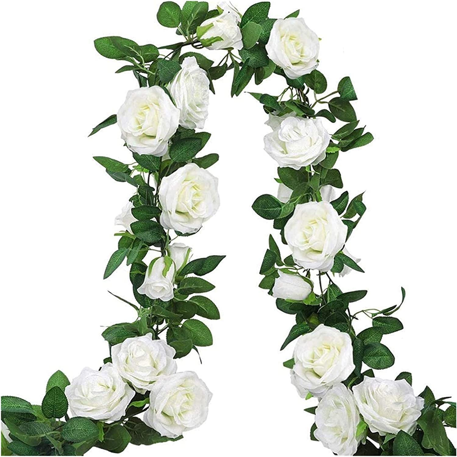 TongN Limited Special Price Artificial Plant 3 Free shipping anywhere in the nation Pieces of White Vine Flower Wreath Rose