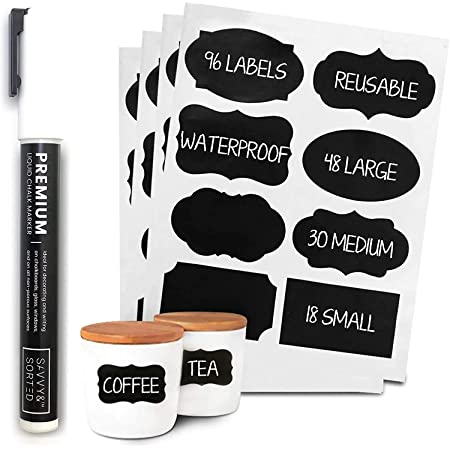 300PCS Chalkboard Blackboard Chalk Board Stickers Kitchen Jar Tags Labels Useful