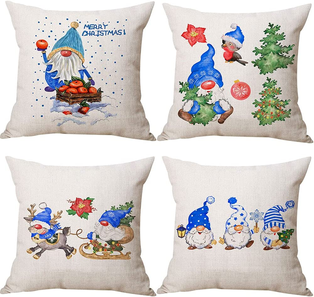 Zivisk Christmas Gnome Pillow Max 88% OFF Max 59% OFF Covers x 4 18 of Set