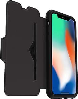 OtterBox Strada - Funda de Piel Formato Folio para iPhone X/Xs schwarz (Negro)