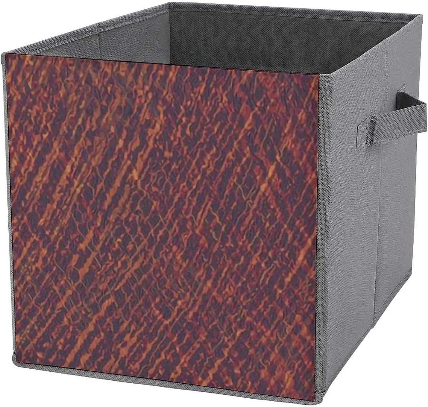 MMJUI Crosshatch Marsala Caramel High quality Storage Sales results No. 1 Folding Collapsibl Bins