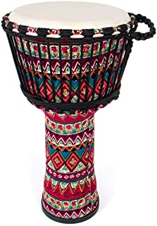 Goatskin Cloth Drum, Cloth Stitching Bongo Congo Djembe Drum 11'' x 20'' ABS Resin Lightweight Goatskin Drumhead for Start...