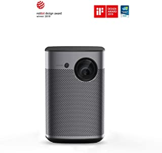 XGIMI Halo Smart Mini Projector, 1080P FHD 800 ANSI Lumen Portable Projector, Android TV 9.0, Support 2K/4K, Portable WiFi/Bluetooth Harman/Kardon Speaker, Indoor/Outdoor Theater More Than 5000+ Apps