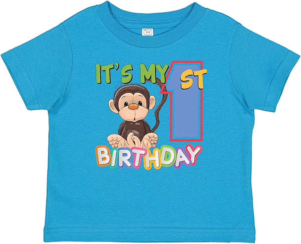 inktastic Monkey First Birthday 2021 spring and summer new Baby T-Shirt Ranking TOP19