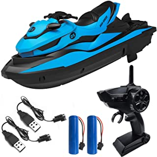 IOKUKI 2.4G RC Boats for Kids - Remote Control Boat for Kids and Adults for Lakes and Pools with 2 Batteries & 2 Charger C...