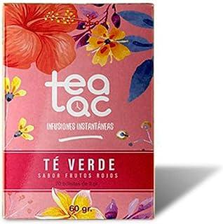 LA TETERA AZUL Te Verde Frío Sabor Frutos Rojos. Infusión Fría En Polvo. Tea Tac. Caja Con 20 Sobres.