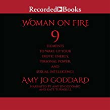 a woman on fire
