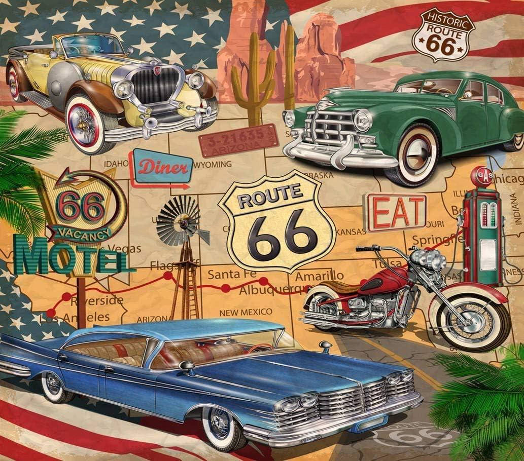 300 Pcs Puzzle Vintage Car Motorbike California Map Jigsaw DIY Educational Toys