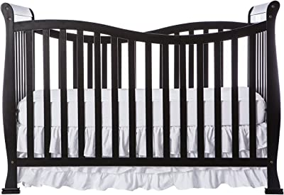 Dream On Me Violet 7 in 1 Convertible Life Style Crib in Black, Greenguard Gold Certified