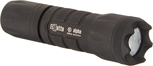 Elzetta A313 Alpha 1-Cell Flashlight with Crenellated Bezel Ring, Standard Lens, High/Low Tailcap