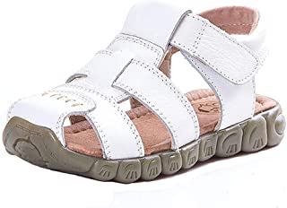 Boy's Girl's Closed Toe Outdoor Sandal Summer Athletic Casual Leather Sandal Fisherman Sandals