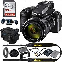 COOLPIX P950 - Cámara digital compacta con zoom óptico 83x lente súper telefono + paquete de accesorios básicos Expo