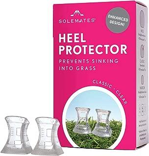 Enhanced Heel Protectors – Solemates Secure Cap to Cover Heels (Clear, Wide)