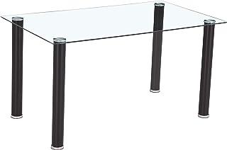 HomeSouth - Mesa de Comedor Negra Mesa de Cristal para Cocina Medidas Mesa Moderna salón: 140x80 cm Ancho