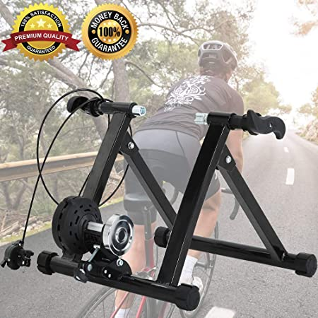 Youen Indoor Bike Trainer Stand Stationary Bike Stand for Indoor Riding Quiet Noise Reduction Bike Trainer Exercise Fitness Stand Adjustable Resistance for Mountain Bike