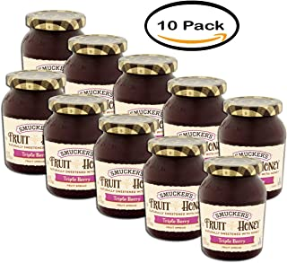 PACK OF 10 - Smucker's Fruit Honey Triple Berry Fruit Spread, 9 oz