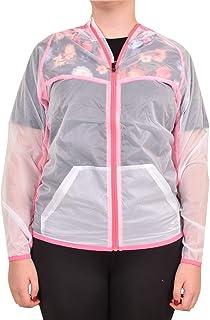 True Face Chaqueta con capucha para mujer, ligera, con capucha protectora para médicos y enfermeras, transparente