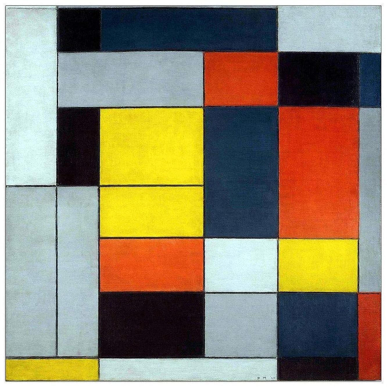 ArtPlaza TW92395 Piet Mondrian-21 Artworks Decorative Panel 23.5x23.5 Inch Multicolored