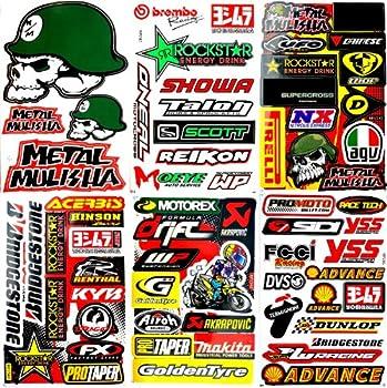 Motocross Motorcycles Dirt Bikes Skateboard Lot 6 Vinyl Decals Stickers D6041
