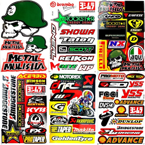 Motocross Motorcycles Dirt Bikes Skateboard Lot 6 Vinyl Decals Stickers D6041