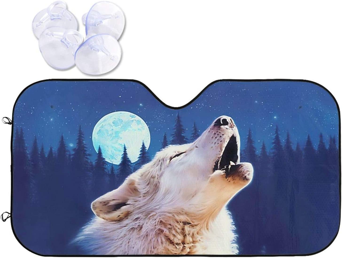 JASMODER Howling Wolf Car Sun Shade Wi Purchase Sunshade Windshield Front Popular products