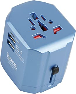 Hoco Multi Wall Chargers, 2 USB Ports, Blue, AC3-BLUE