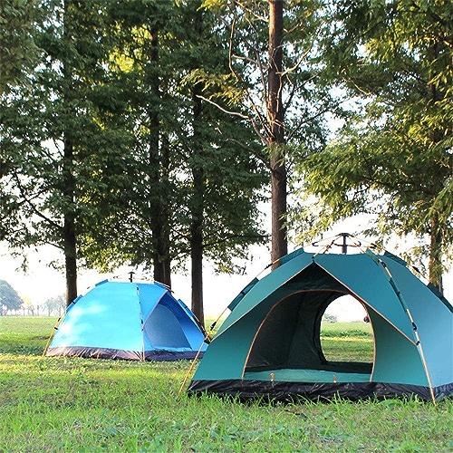 Sortie Udstyr, Tente Antipluie Extérieure Double Tente de Camping Détachable Camping Camping Ombre de Soleil Portable Tente Instantanée Pour la Plage, Kejing Miao, Bleu, 4 personnes double couche