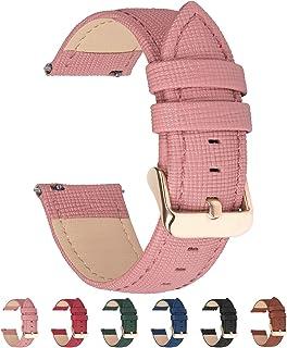 6 ألوان لسوار ساعة جلدية سريعة التحرير، حزام معصم قابل للتبديل من جلد أصلي للرجال والنساء 14 مم 16 مم 18 مم 20 مم 22 مم 24 مم