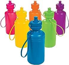 Fun Express - Neon Sport Water Bottles - Party Supplies - Drinkware - Water Bottles & Canteens - 12 Pieces