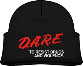 Dare to Keep Kids Off Drugs Beanie Cap Thick,Soft,Warm Slouchy Knit Hat for Boys & Girl Winter Soft Ski Cap