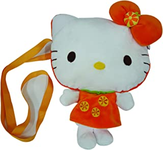 d23f33fbd Hello Kitty Shoulder Plush Bag - Orange, Orange/White