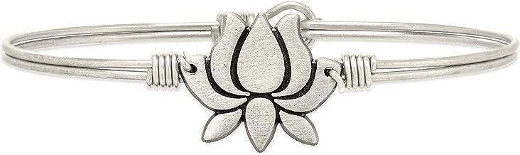 Luca + Danni Lotus Flower Bangle Bracelet for Women Made in USA