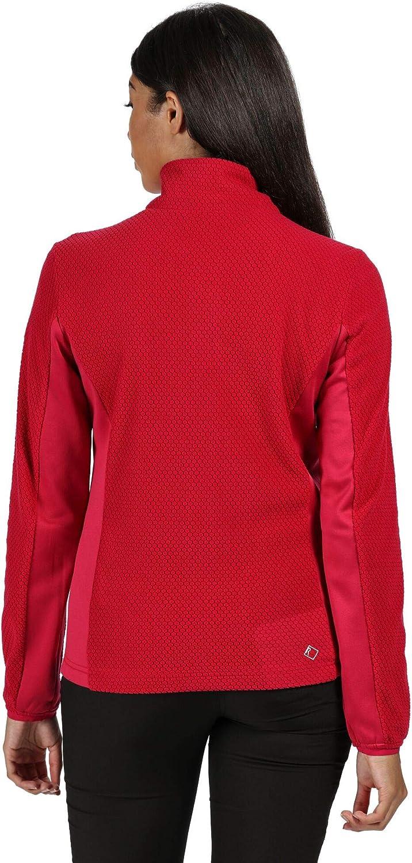 Regatta Womens Highton Lightweight Extol Stretch Side Panels Half Zip Fleece