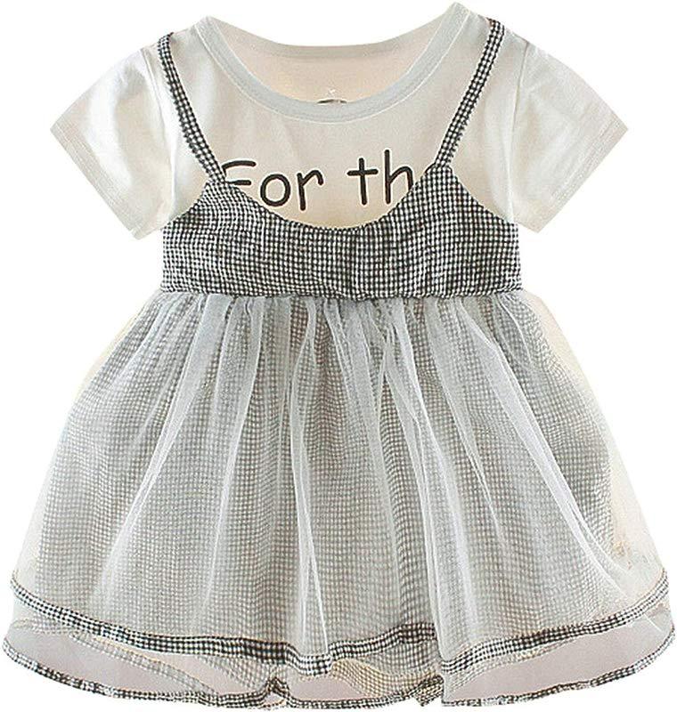 Ivyi Miniskirt Summer Girl Frilled Mesh Sling Solid Color Princess 0M 24M 19Apl10 Black 12M