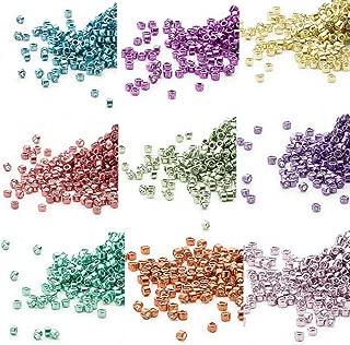 Miyuki Square//Cube Beads 1.8mm APX 20g Light Sapphire Transparent AB Matte
