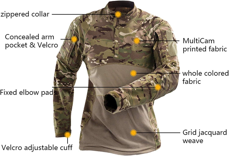 Outdoor Milit/äR Uniform Tactical Combat Shirt Armee Kleidung Tops Airsoft Multicam Shirts Tarnung Jagd Angelhose Knie